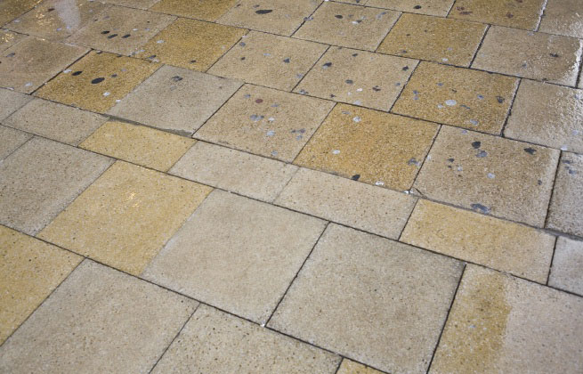 Before and After Typical Results on pavers